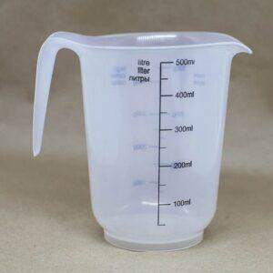 Прозрачный пластиковый стакан для плавления мыльной основы