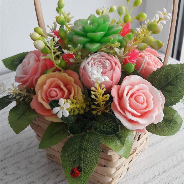 Корзина с розами-2