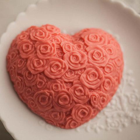 Пластиковая форма Сердце из роз