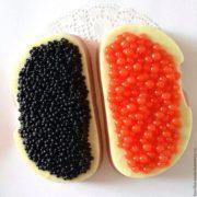 Пластиковая форма Бутерброд с черной икрой