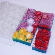 Пластиковая форма Розы под нарезку