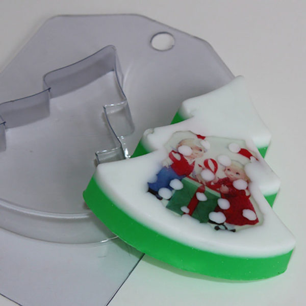 Пластиковая форма Ёлка плоская