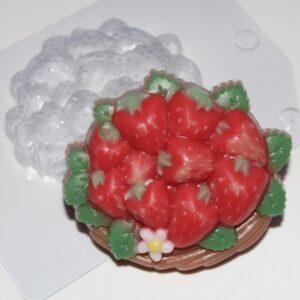 Пластиковая форма Корзинка клубники