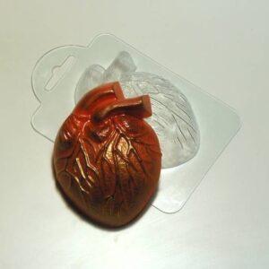 Пластиковая форма Сердце живое