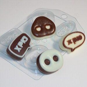 Пластиковая форма для шоколада Хрюнфетки