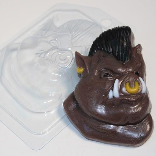Пластиковая форма Кабан с ирокезом