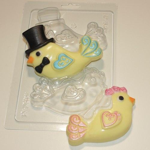 Пластиковая форма Птички молодожены