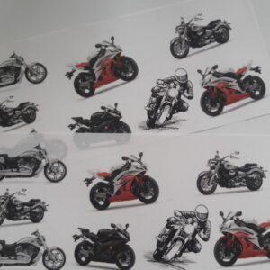 Водорастворимые картинки Мотоциклисты