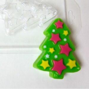 Пластиковая форма Елка со звездами