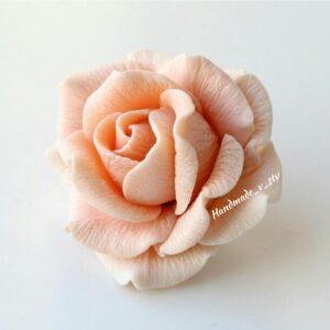 Силиконовая форма Роза элегант