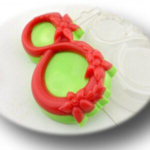 Пластиковая форма 8-ка в цветах