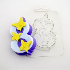 Пластиковая форма бабочки на 8-ке