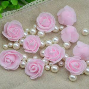 Розы розовые 10 шт.