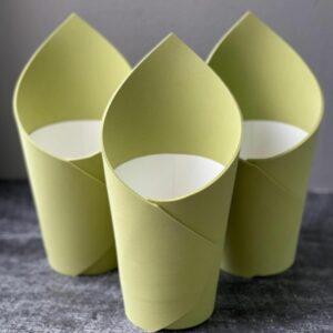 Кашпо - стакан цвет Вассаби 2 шт